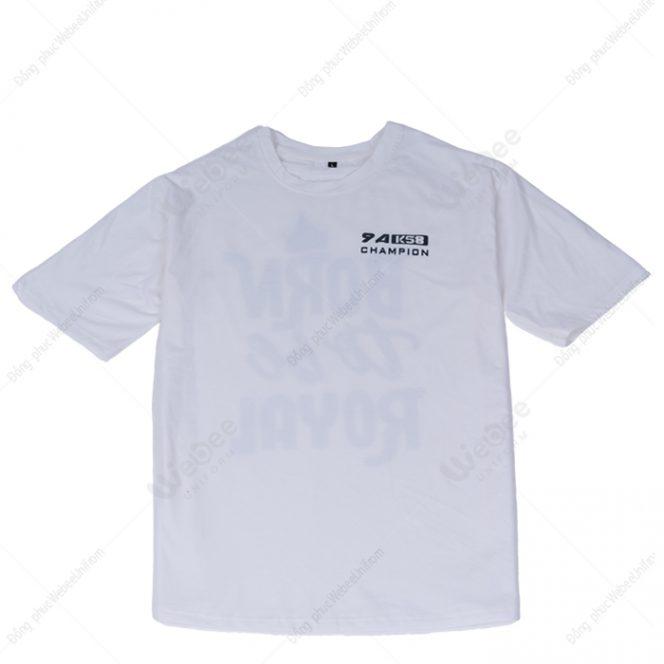 Áo đồng phục lớp màu trắng 9A Champion-001