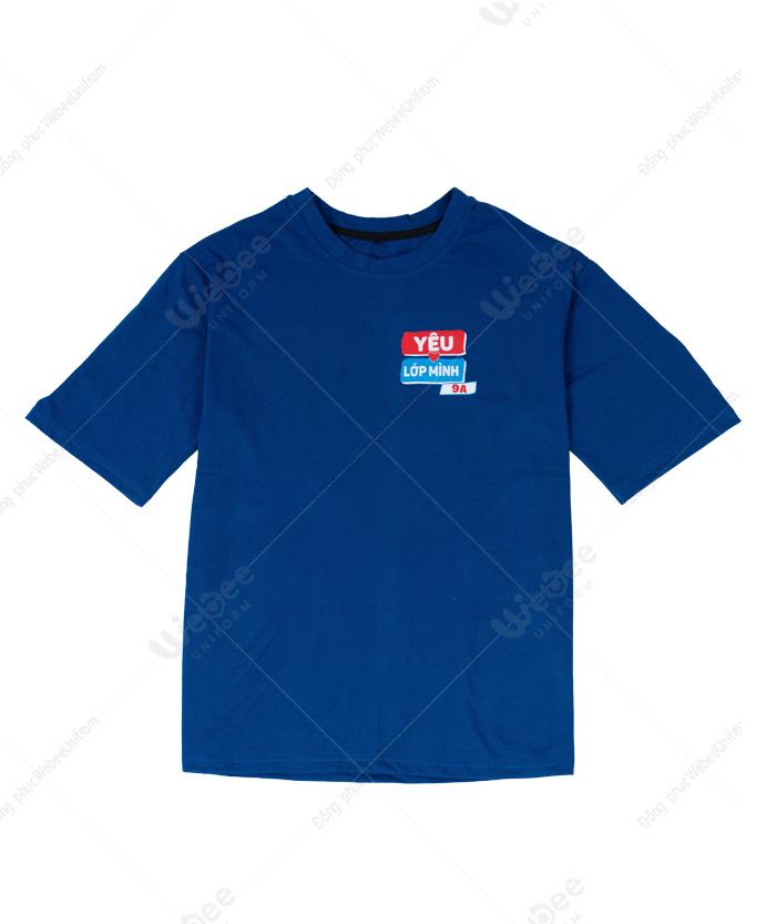 Áo đồng phục lớp màu xanh bích 9A-01