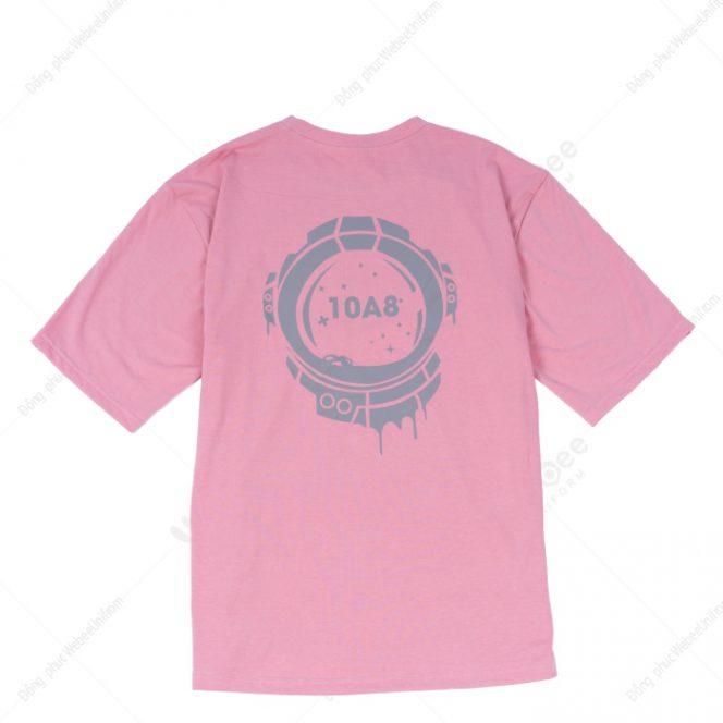 Áo lớp 10A8 phản quang màu hồng