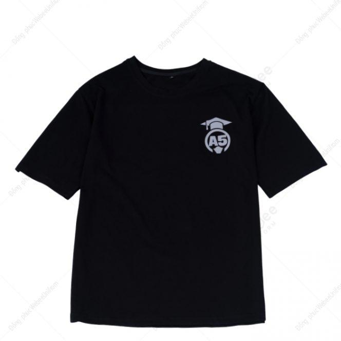 Áo lớp A5 in phản quang màu đen