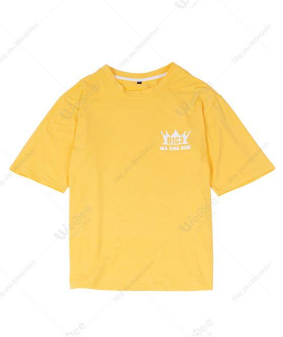 Áo lớp màu vàng cúc logo B1C3-01