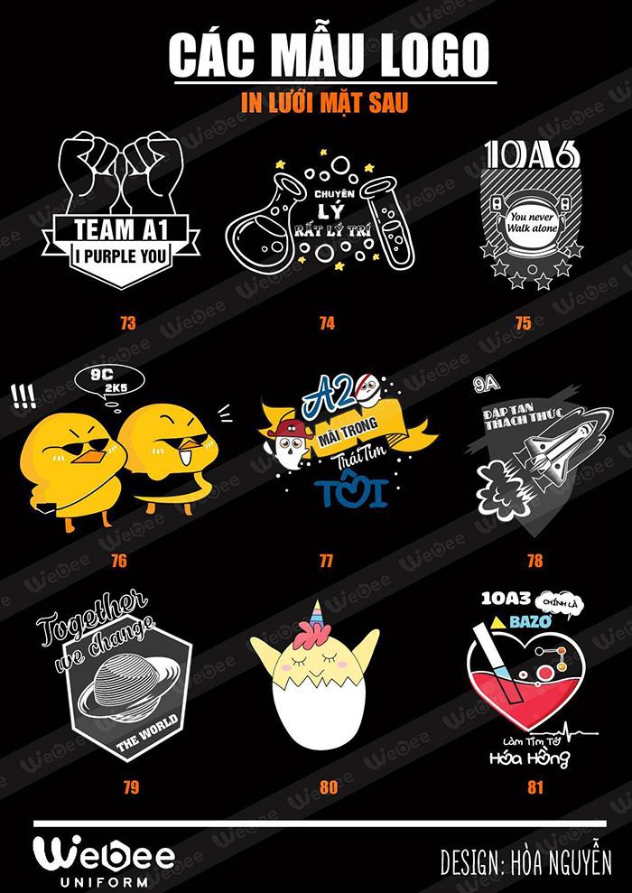 Gợi ý một số mẫu logo áo lớp cực chất-02