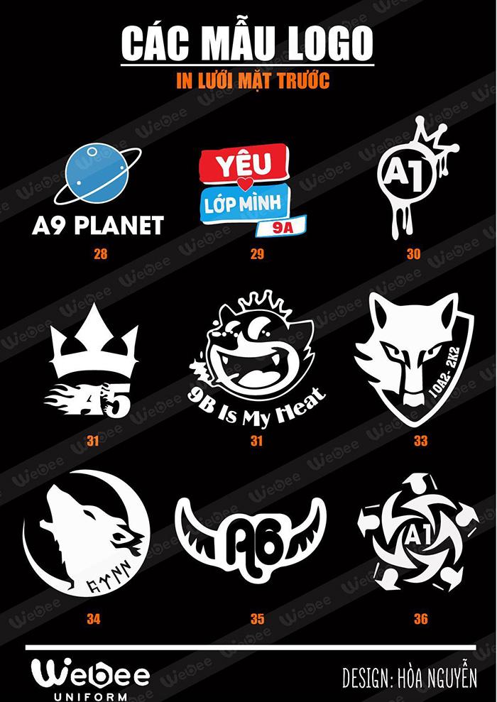 Gợi ý một số mẫu logo áo lớp cực chất-03