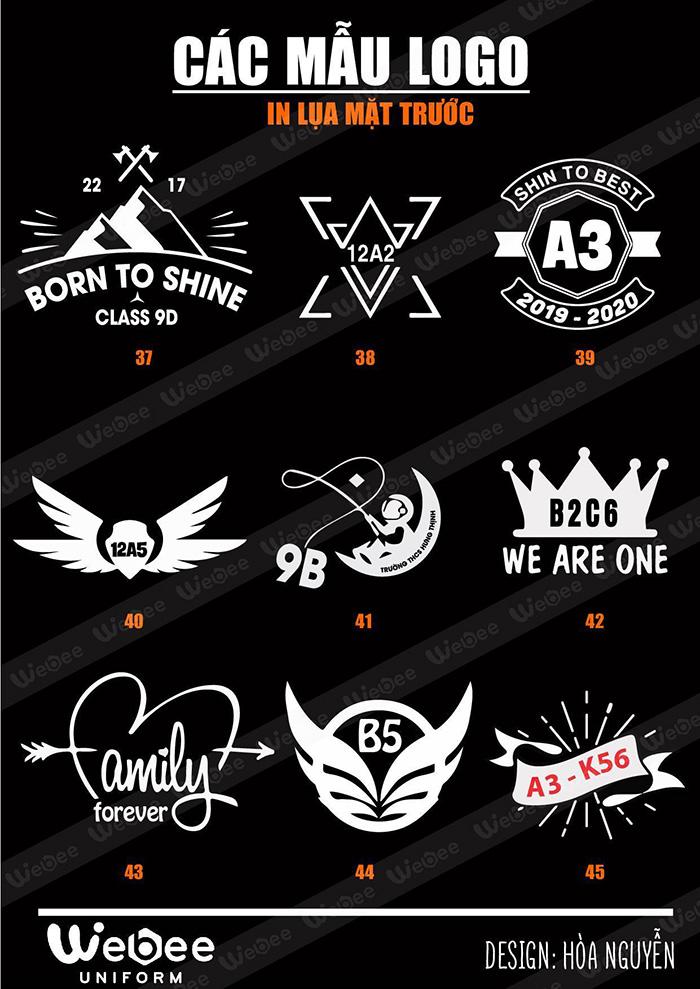 Gợi ý một số mẫu logo áo lớp cực chất-04