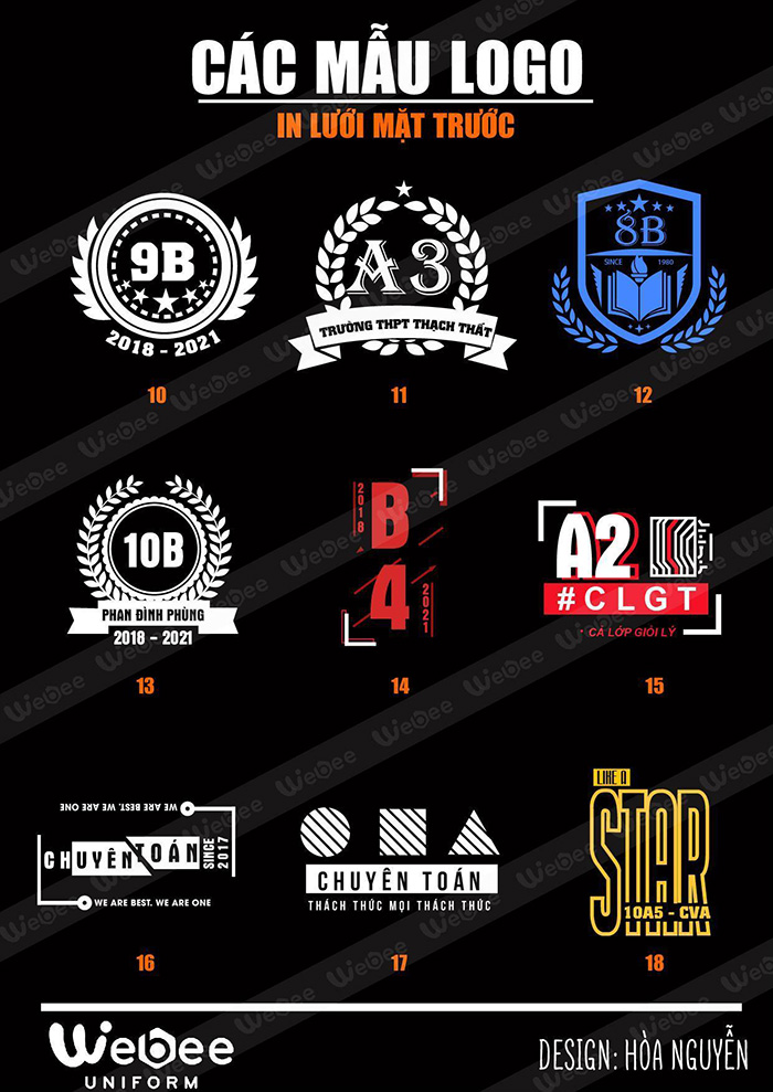 Gợi ý một số mẫu logo áo lớp cực chất-05